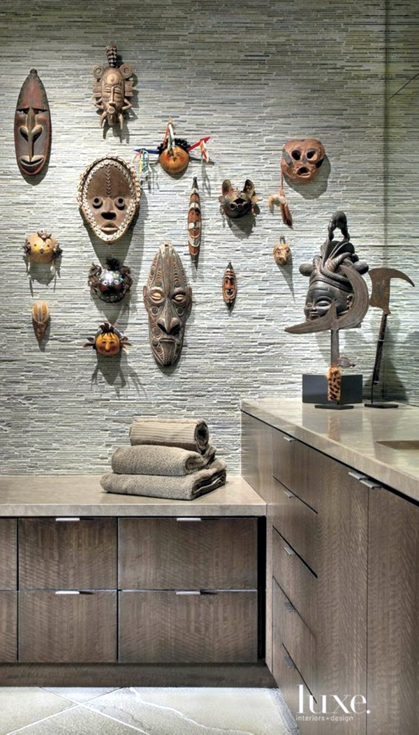 African Masks Wall Decoration Ideas (6)