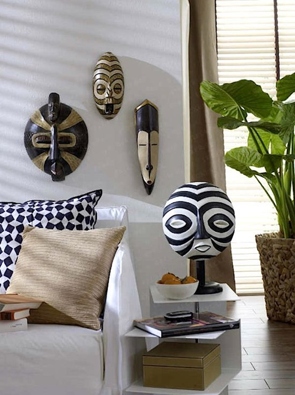 African Masks Wall Decoration Ideas (7)