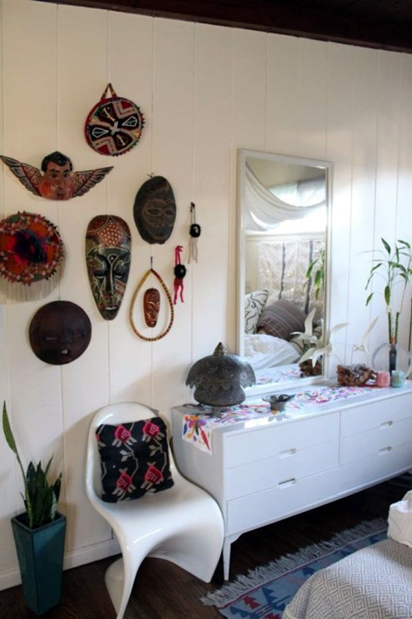 African Masks Wall Decoration Ideas (8)