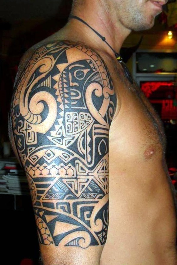 Cool Polynesian Tattoo Designs For Men (2)