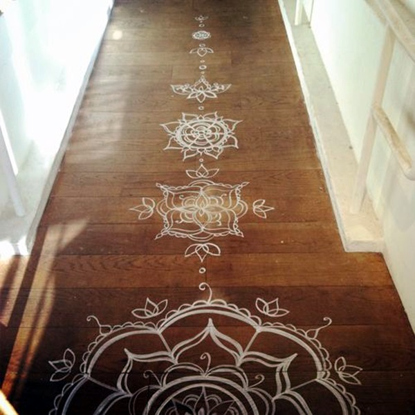 Painting Wooden Floors: 40 Creative Wood Floor Paint Decoration Art Works