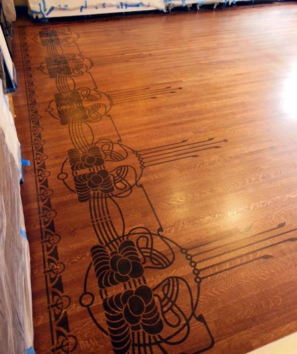 Creative Wood Floor Paint Decoration Art Works (15)