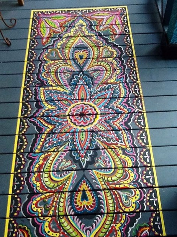 Creative Wood Floor Paint Decoration Art Works (19)