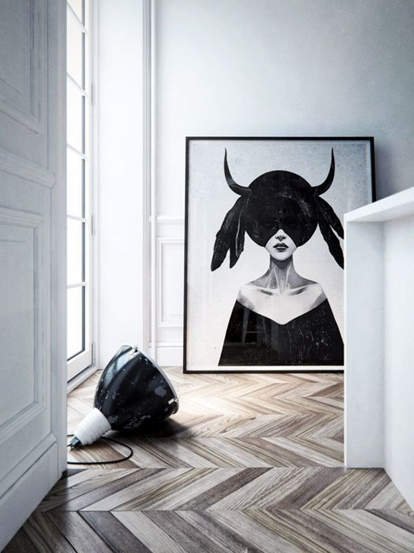 40 creative wood floor paint decoration art works