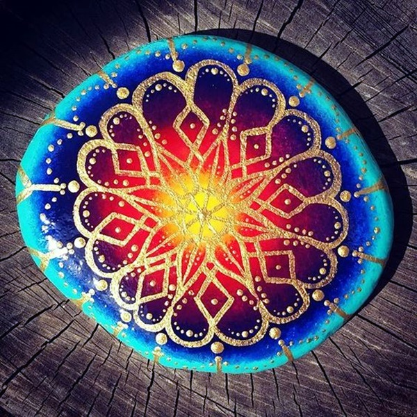 DIY Mandala Stone Patterns To Copy (22)