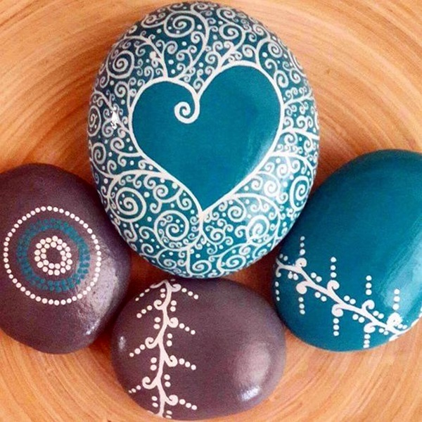 DIY Mandala Stone Patterns To Copy (31)