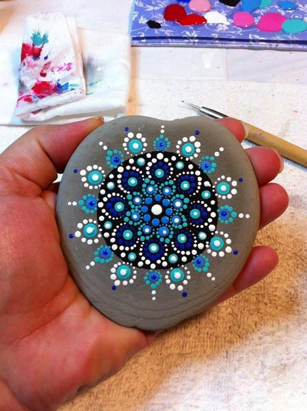 DIY Mandala Stone Patterns To Copy (37)