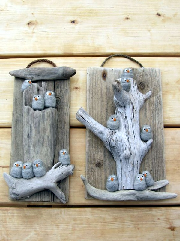 40 diy stone craft ideas for many use bored art for Driftwood crafts to make