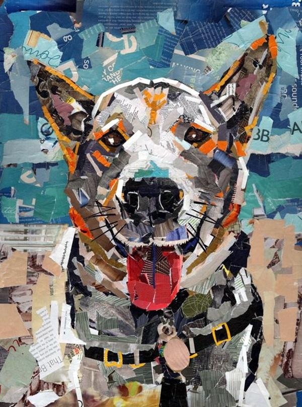 collage portrait works exclusive artists collages artwork artist portraits paper magazines dog does paint con