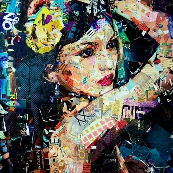 Exclusive Collage Portrait Art Works (17)