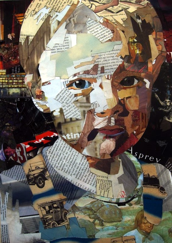 Exclusive Collage Portrait Art Works (24)