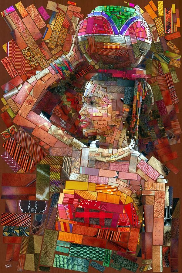 Exclusive Collage Portrait Art Works (5)