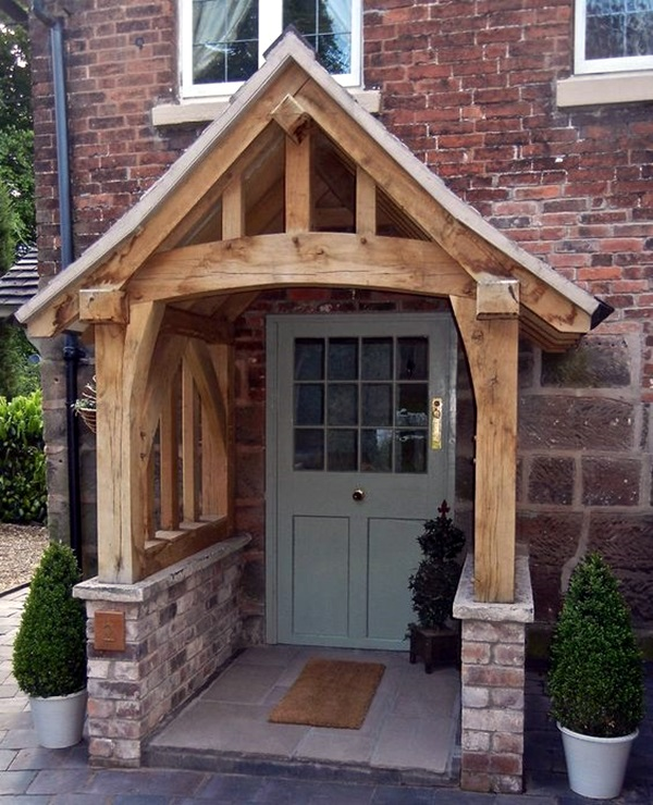 Lovely Door Overhang Designs (10)