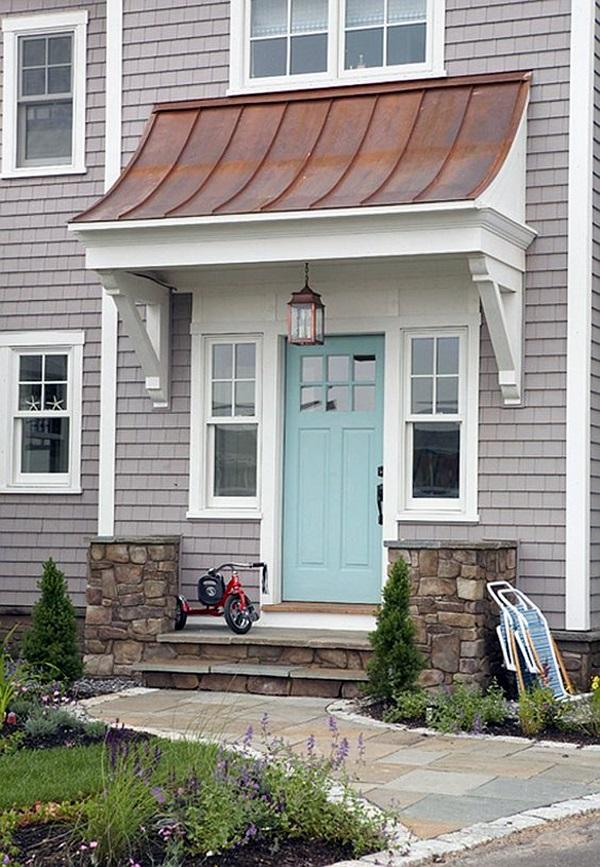 40 lovely door overhang designs bored art - Houses overhang practical design ...