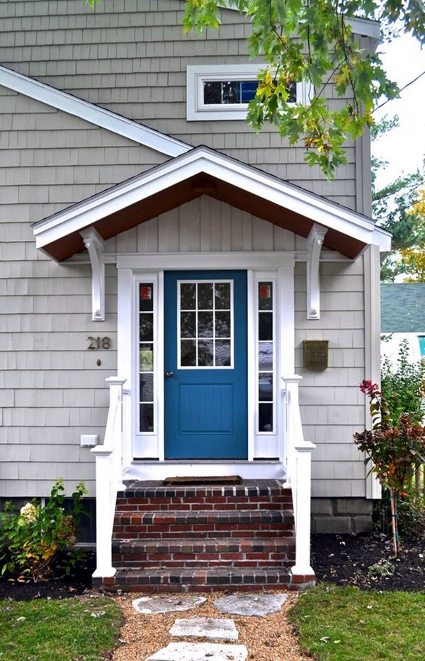 Lovely Door Overhang Designs (14)