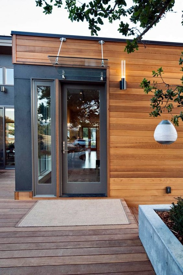 40 Lovely Door Overhang Designs Bored Art