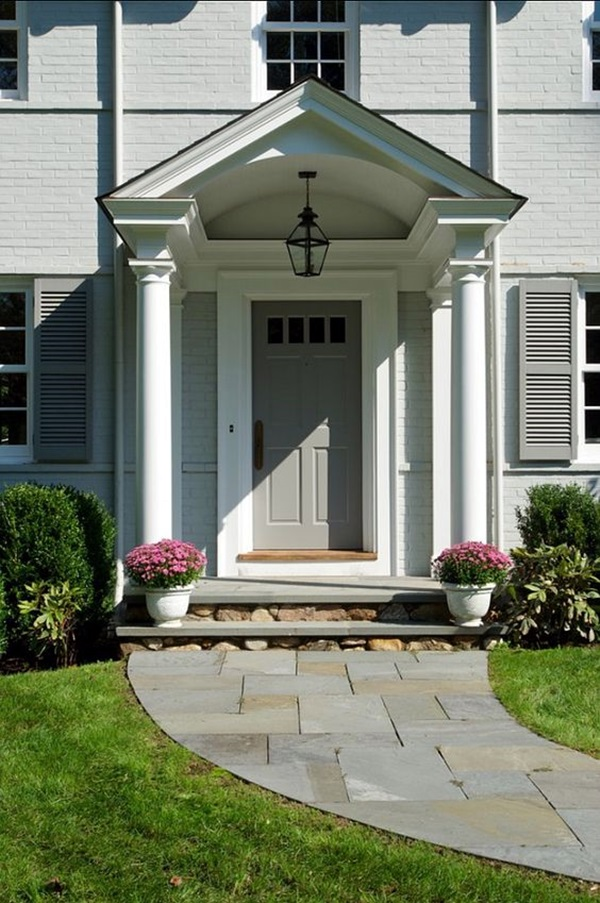 40 lovely door overhang designs bored art for Classic house fronts