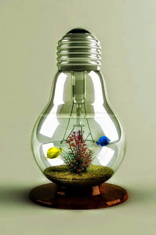 Original Light Bulb Aquarium Decor Ideas (23)
