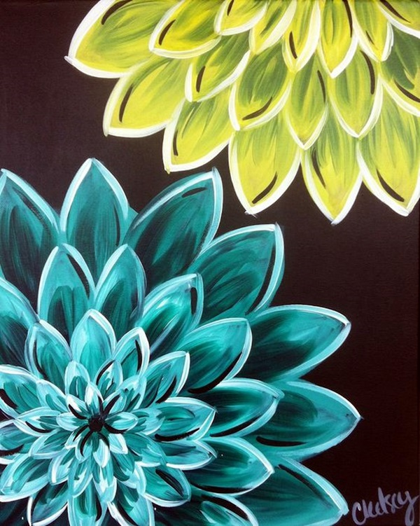 Peaceful Lotus Flower Painting Ideas (11)