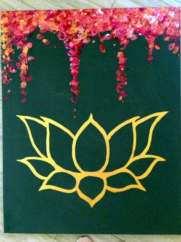 Peaceful Lotus Flower Painting Ideas (2)