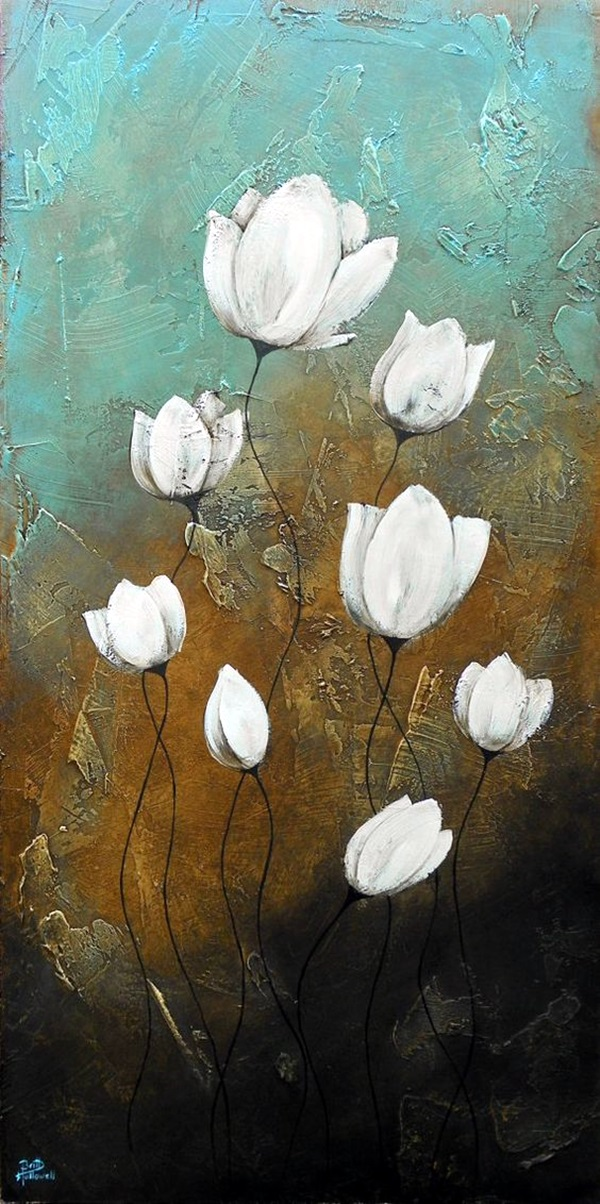 Peaceful Lotus Flower Painting Ideas (3)