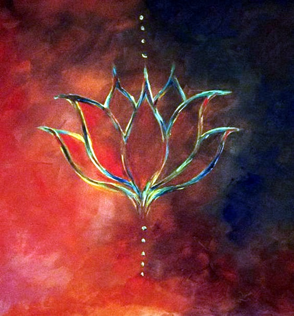 Peaceful Lotus Flower Painting Ideas 7