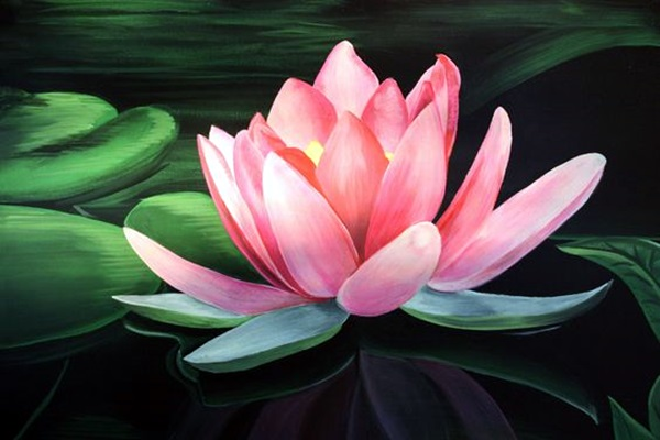 Peaceful Lotus Flower Painting Ideas (8)