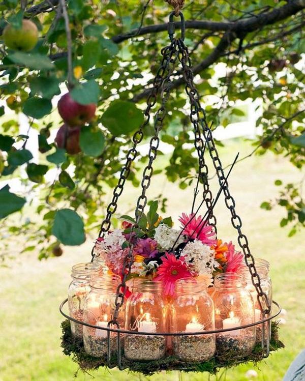 Rustic Outdoor Wedding Ideas: 40 Stylish Garden Chandelier Ideas
