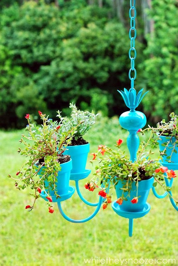 Stylish garden chandelier Ideas (12)