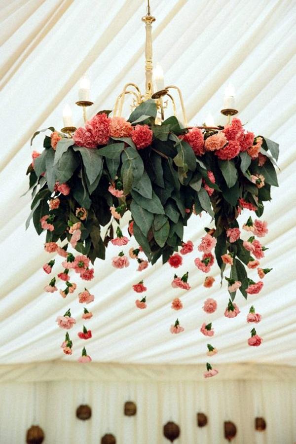 40 stylish garden chandelier ideas bored art for Artificial flower decoration mandap