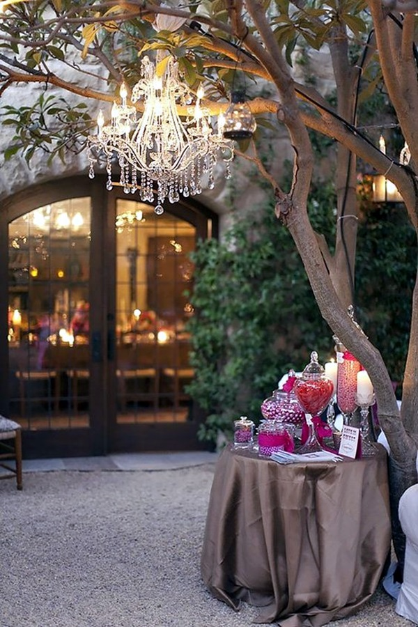 Stylish garden chandelier Ideas (16)