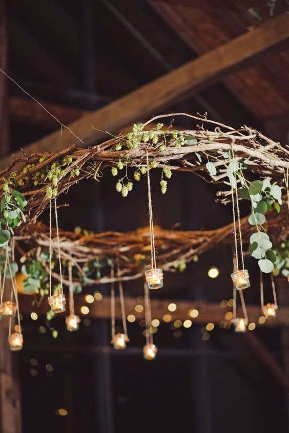40 stylish garden chandelier ideas bored art for Chandelier craft ideas