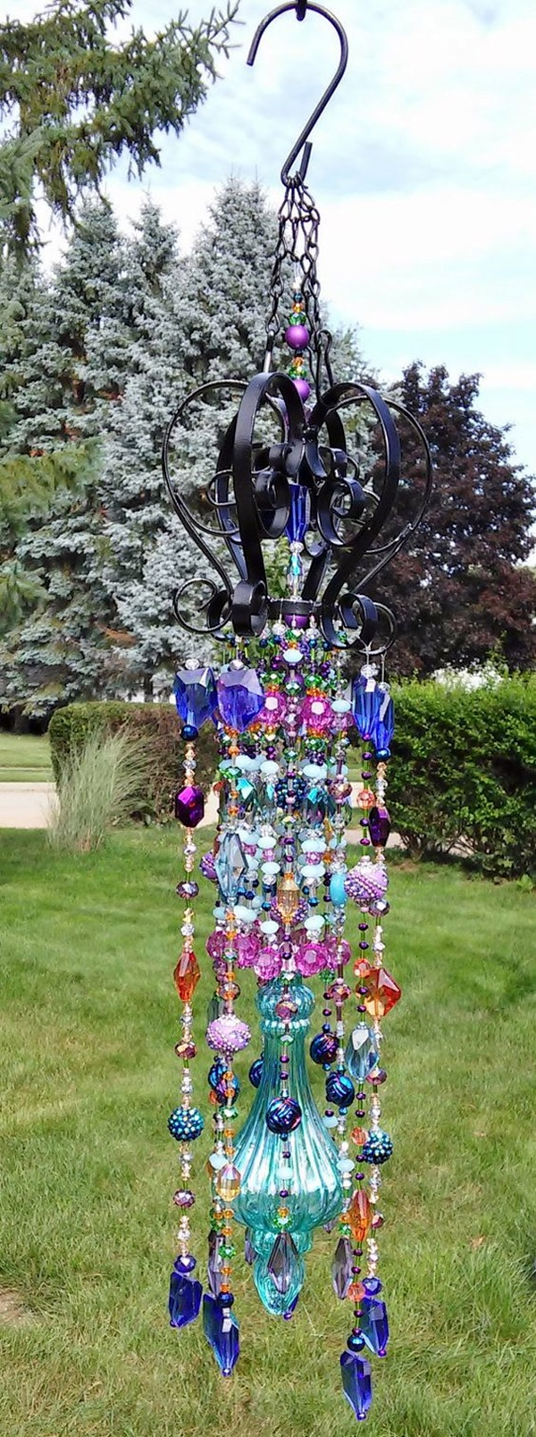 Stylish garden chandelier Ideas (9)