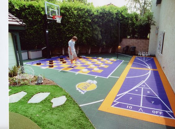 Backyard Basketball Court Ideas 10