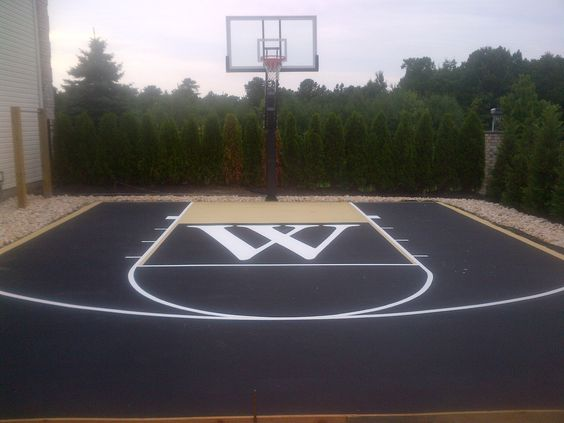 Backyard basketball court ideas to help your family become for Sport court paint