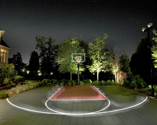 Backyard basketball court ideas to help your family become for How much does it cost to build a basketball court