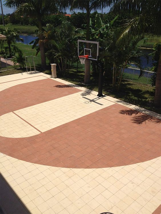 Backyard basketball court ideas to help your family become for Outdoor basketball court cost estimate