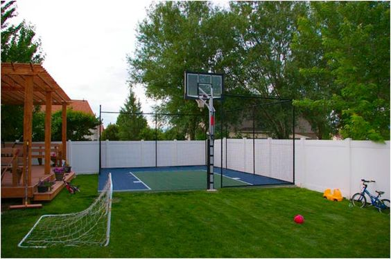 Backyard Basketball Court Ideas To Help Your Family Become Champs - Backyard basketball court ideas