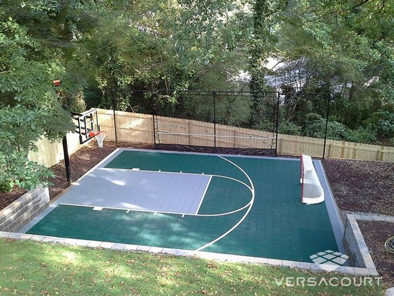 Diy Backyard Basketball Court Home Design And Idea - Backyard basketball court ideas