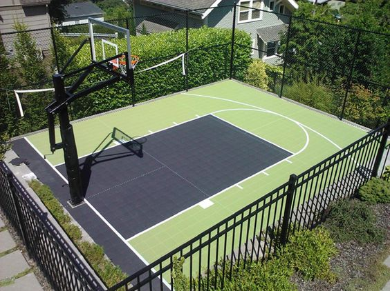 backyard basketball court ideas to help your family become champs
