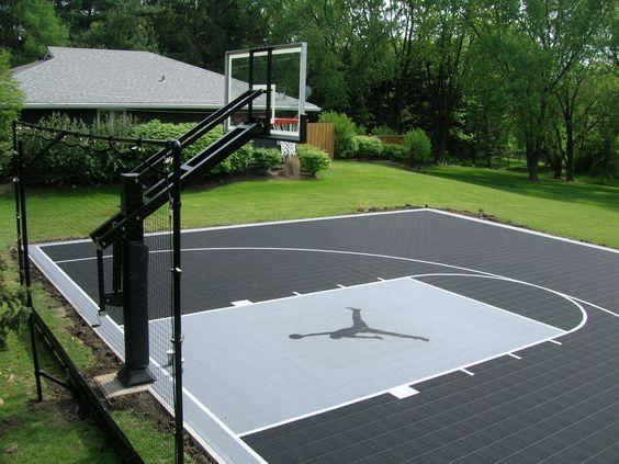 backyard basketball court ideas 4