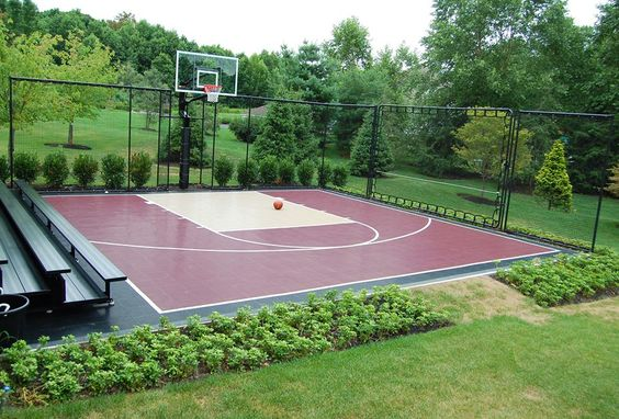 backyard basketball court ideas 5 - Backyard Basketball Court Ideas To Help Your Family Become Champs