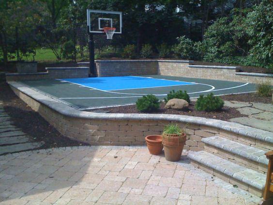 backyard basketball court ideas 7