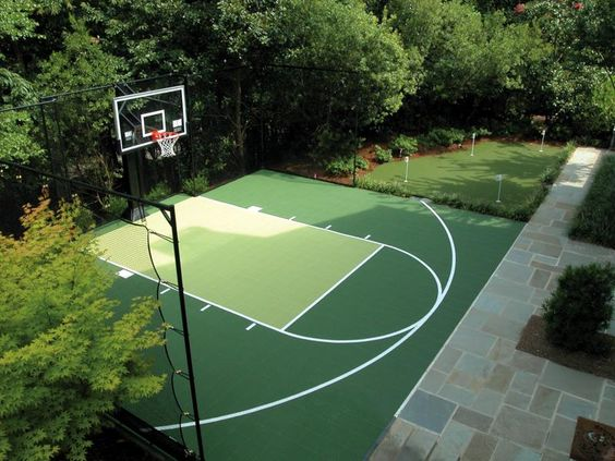 Backyard basketball court ideas to help your family become Sport court pricing
