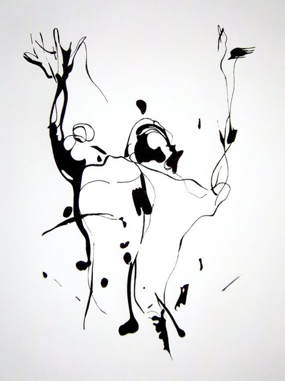 black ink drawings 14