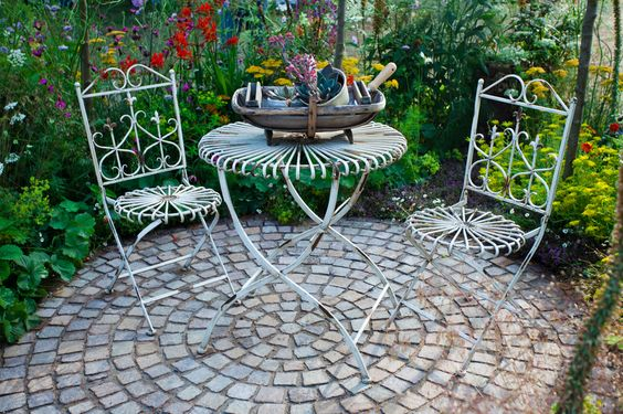 cobblestone patio designs 10