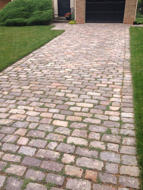 cobblestone patio designs 12