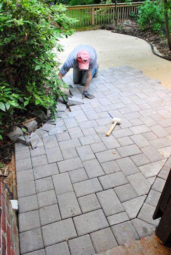 cobblestone patio designs 13