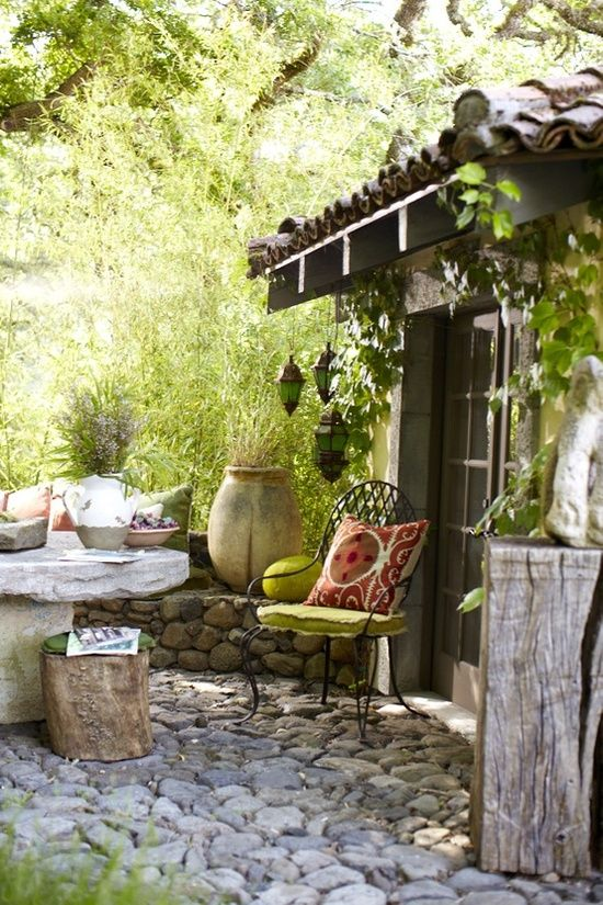cobblestone patio designs 22
