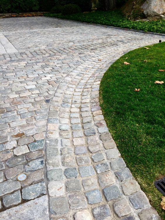 Attractive Cobblestone Patio Designs 4